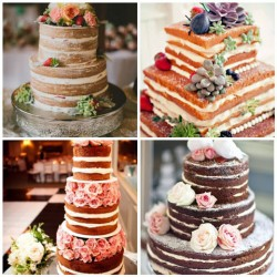 Choosing the wedding cake - naked wedding cake ideas