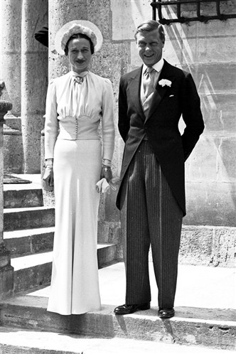 Edward and Mrs Simpson Vintage Wedding
