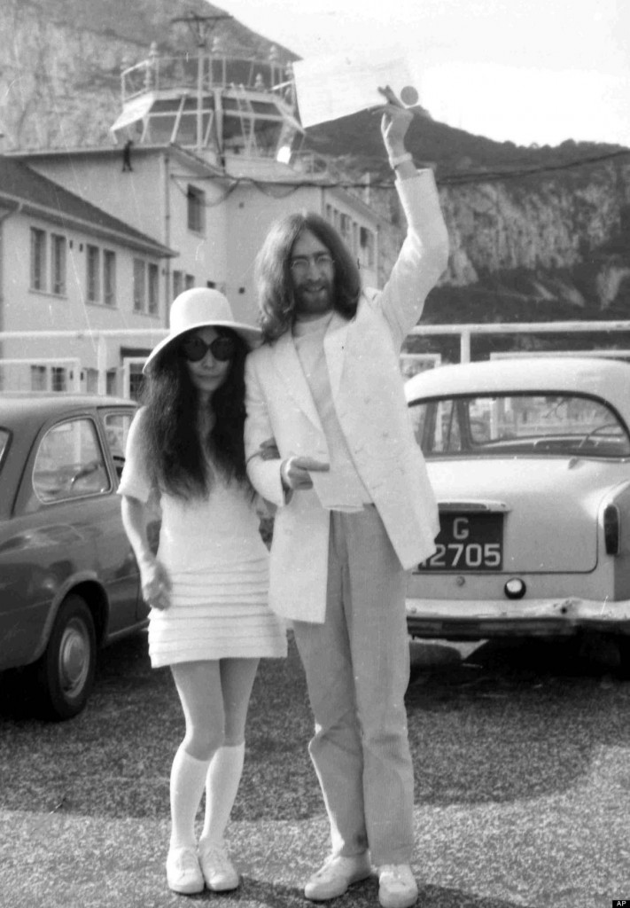 Gibraltar Wedding Yoko Ono and John Lennon