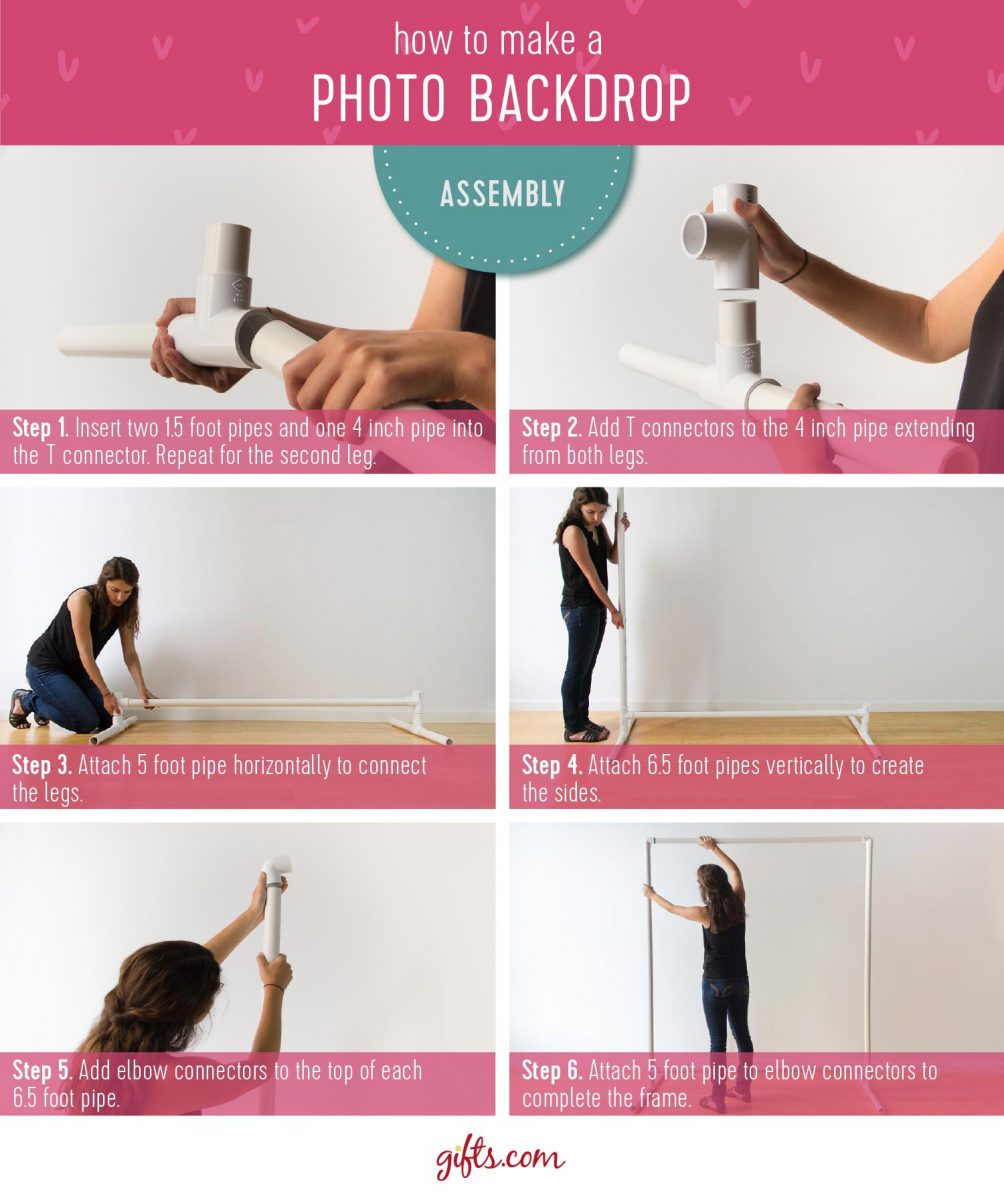 How to make a photo backdrop wedding assembly