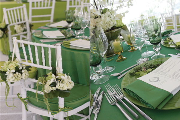 emerald green wedding theme