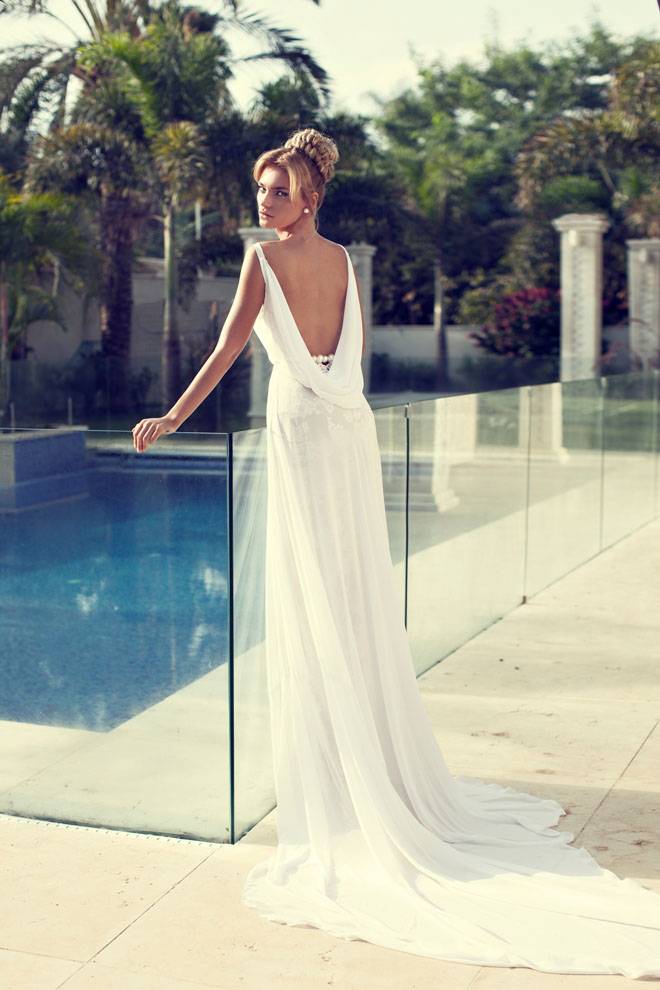 Nurit Hen Wedding Dress, Mediterranean Wedding Mallorca