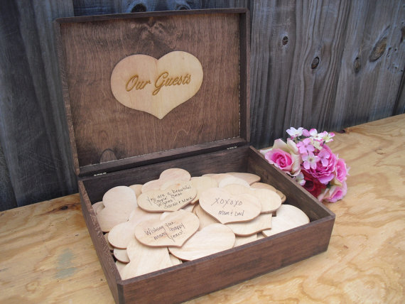 Trends for Woodland-Themed Weddings Guest Books