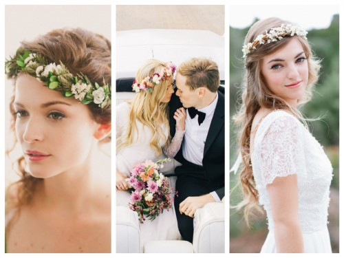 Wedding Trends: Bridal Headbands with Flower Crowns
