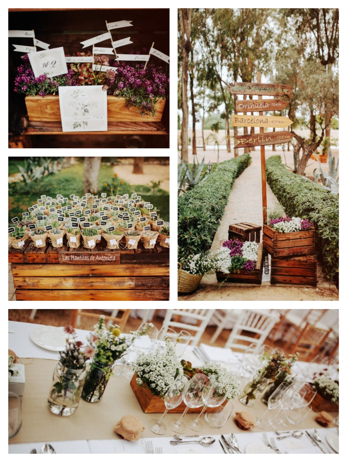 Mediterranean hipster wedding Mallorca decoration