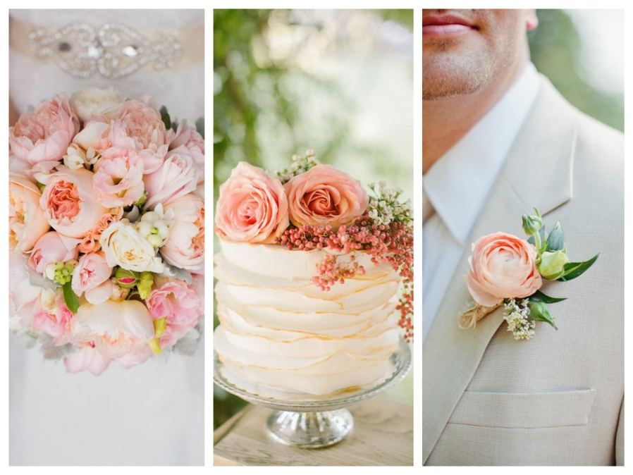 Peach Wedding Inspiration Mallorca