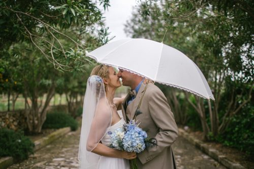 A Rainy, Intimate Finca Wedding in Mallorca