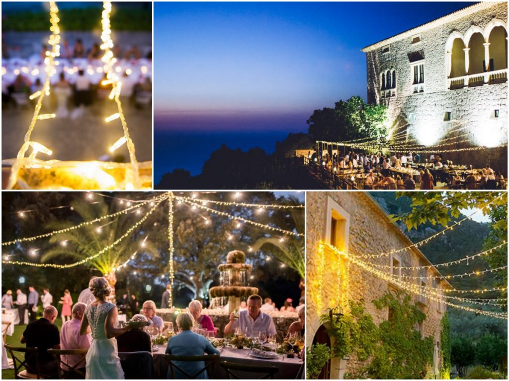 Festoons Fairy Lights Wedding Mallorca
