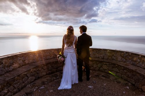 Late Summer Church and Finca Wedding