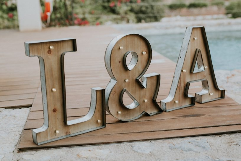 Wedding Letters Mallorca