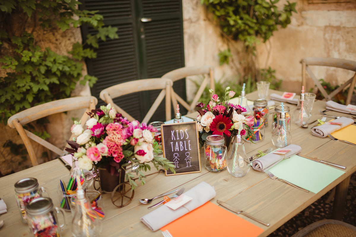 Kids Table Wedding Mallorca